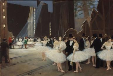 Jean Beraud, Achter de coulissen bij de Opera, 1889