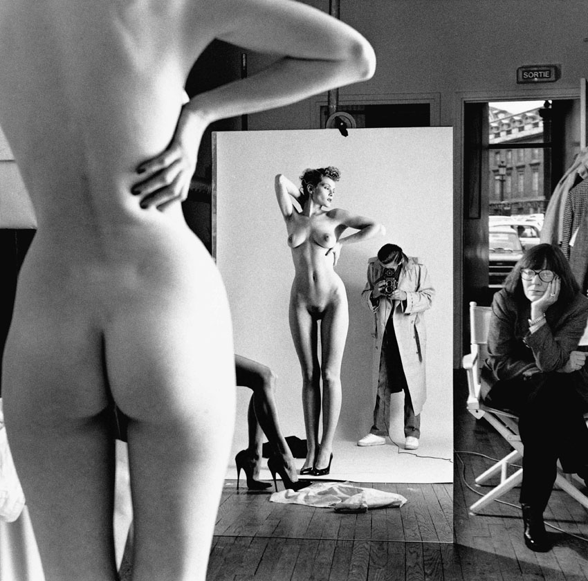 Self Portrait with Wife and Models Paris 1981 C Helmut Newton EstateLR