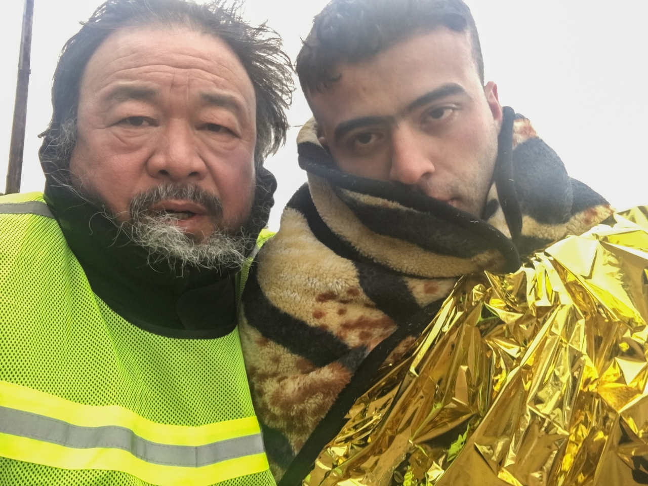 selfie-with-just-landed-refugee-on-the-beach-of-lesbos-greece-26-jan-2016-c-ai-weiwei-studio