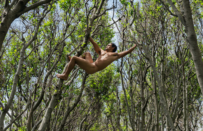 Matt Swinging between Trees Lost Coast California C Lucas Foglia. Courtesy of Michael Hoppen Gallery kopie 2