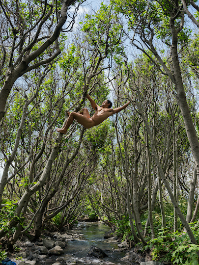 Matt Swinging between Trees Lost Coast California C Lucas Foglia. Courtesy of Michael Hoppen Gallery