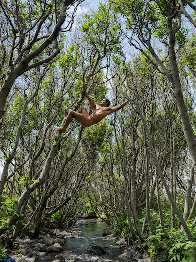 Matt Swinging between Trees Lost Coast California C Lucas Foglia. Courtesy of Michael Hoppen Gallery