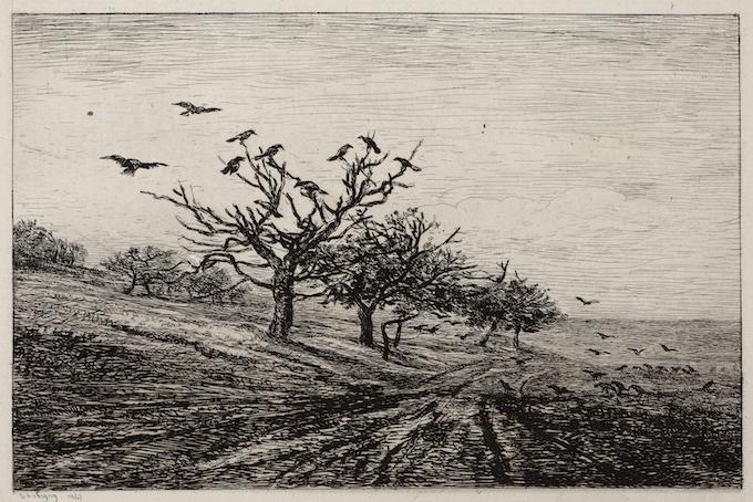 Daubigny, De boom met kraaien, 1867 kopie
