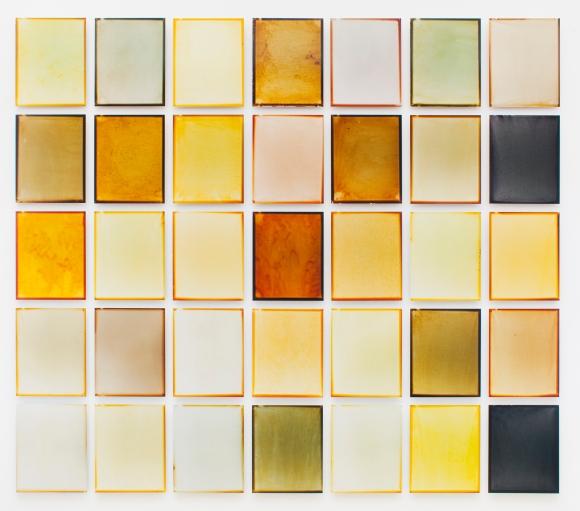 Albada Jelgersma - Arja Hop_Peter Svenson - Residue Project Amsterdam - Matrix of 35 works 2018