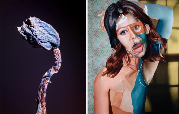 Links: Daniel Gordon 'Portrait with a Yellow Window', 2011. Courtesy of Wallspace New York. | Rechts: Jean Vincent Simonet. 'Maldoror', 2014. , beide: via Foam.