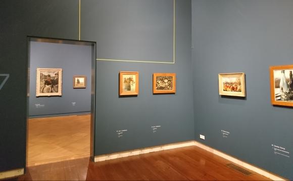 Zaalopname 'Van Gaugin tot Toorop_, Museum Delft.