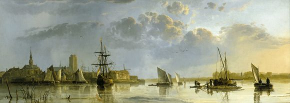View of Dordrecht (from the Maas) by Aelbert Cuyp (Dordrecht 1620 ¿ Dordrecht 1691)