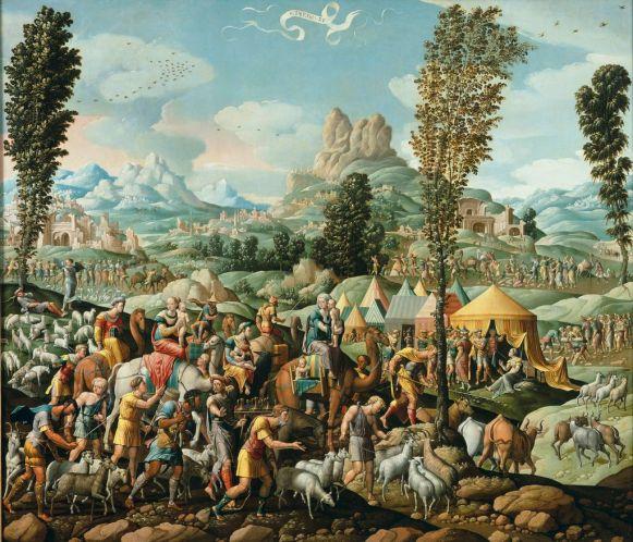 Cornelis Cornelisz. Buys II, Jacob trekt bij Laban weg - Jacob flees from Laban, circa 1535, Stedelijk Museum, Alkmaar