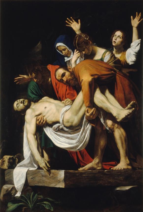 Caravaggio, 'De graflegging van Christus', 1602-1603, Pinacoteca Vaticana, Vaticaanstad, via Centraal Museum, Utrecht