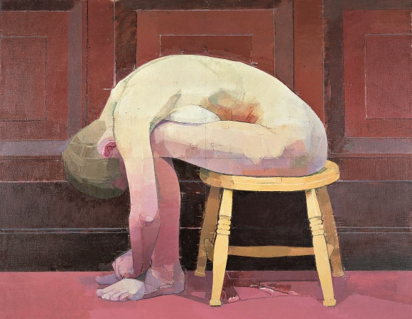 Euan Uglow, Curled Nude on a Stool, 1982-1983, Hull City Museum and Art Gallery, courtesy Estate of Euan Uglow.jpg