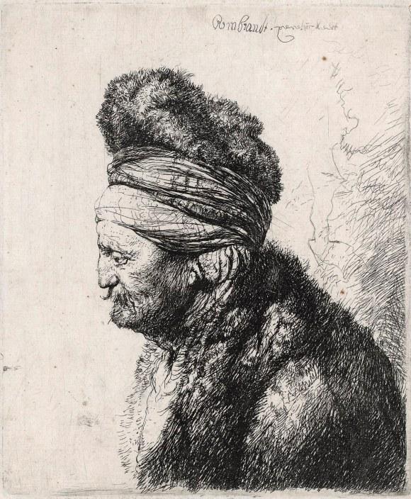 B287, Rembrandt, De tweede 'oosterse' kop, ca. 1635. Ets, enige staat, 151 x 125 mm, Museum het Rembrandthuis, TIF kopie.jpg